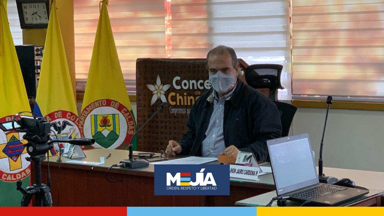 Senador Mejia en el Concejo de Chinchina