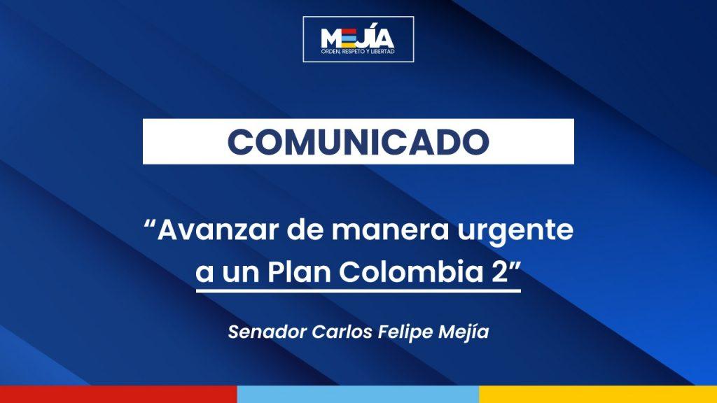 carta del senador mejia a canciller